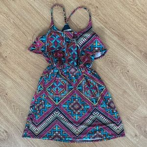 Colorful Pink Charlotte Russe Dress